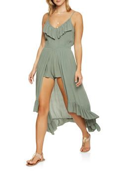 2ae7a840ce8 High Low Ruffle Maxi Romper - 1045015050455
