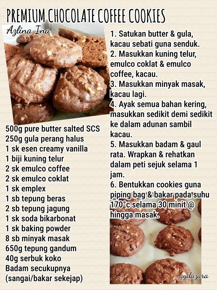 Premium Chocolate Chip Coffee Cookies Resepi Cookies Recipes Sweet Recipes