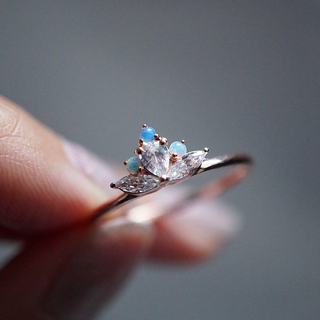 Lotus Opal Ring Vintage engagement rings, Wedding