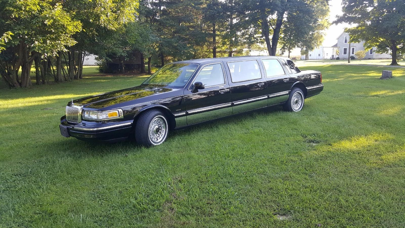 1997 lincoln town car 6 door limousine funeral coach