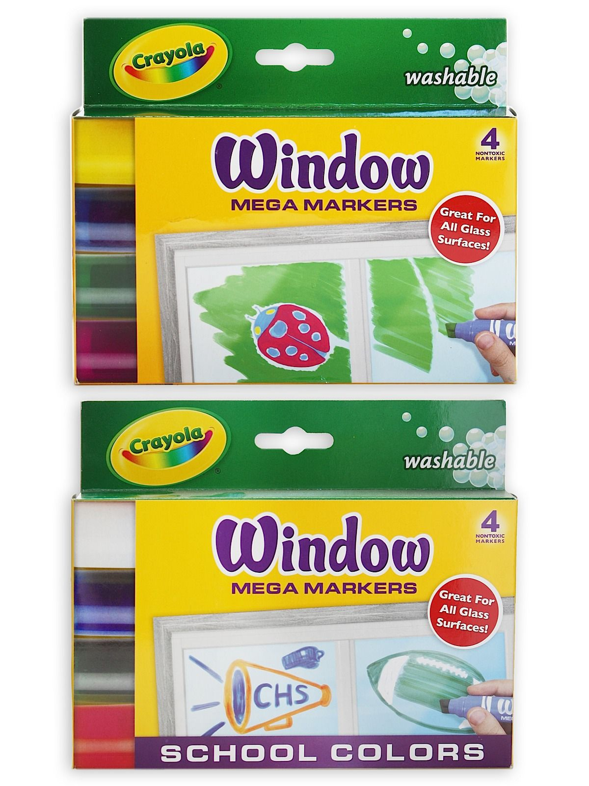Glass Art Supplies These Window Markers By Crayola Are Designed Specifically For Glass And They Wash Of With Ease As Well