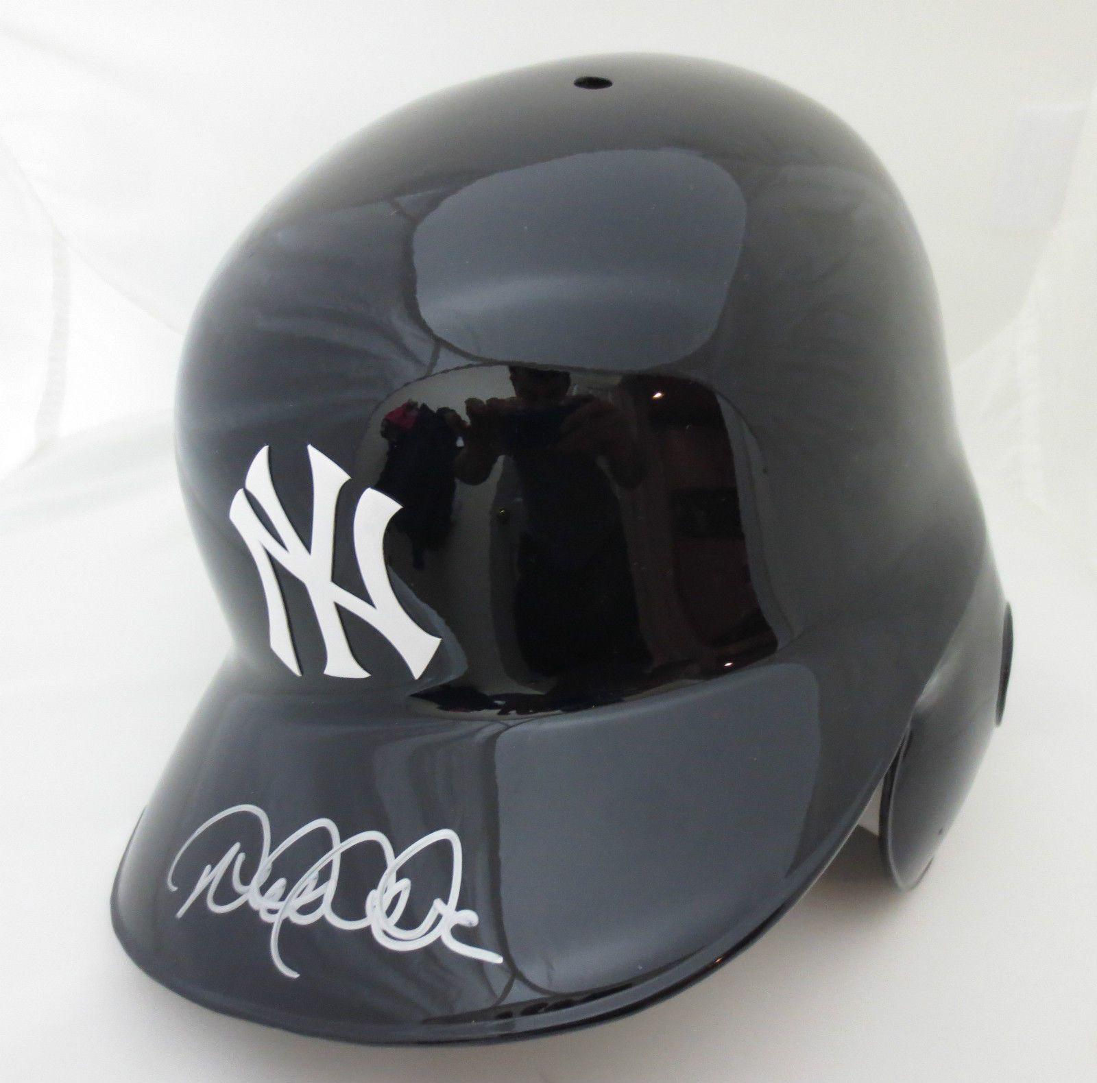 Derek Jeter Autographed New York Yankees Baseball Batting Helmet Steiner Coa New York Yankees Baseball New York Yankees Ny Yankees