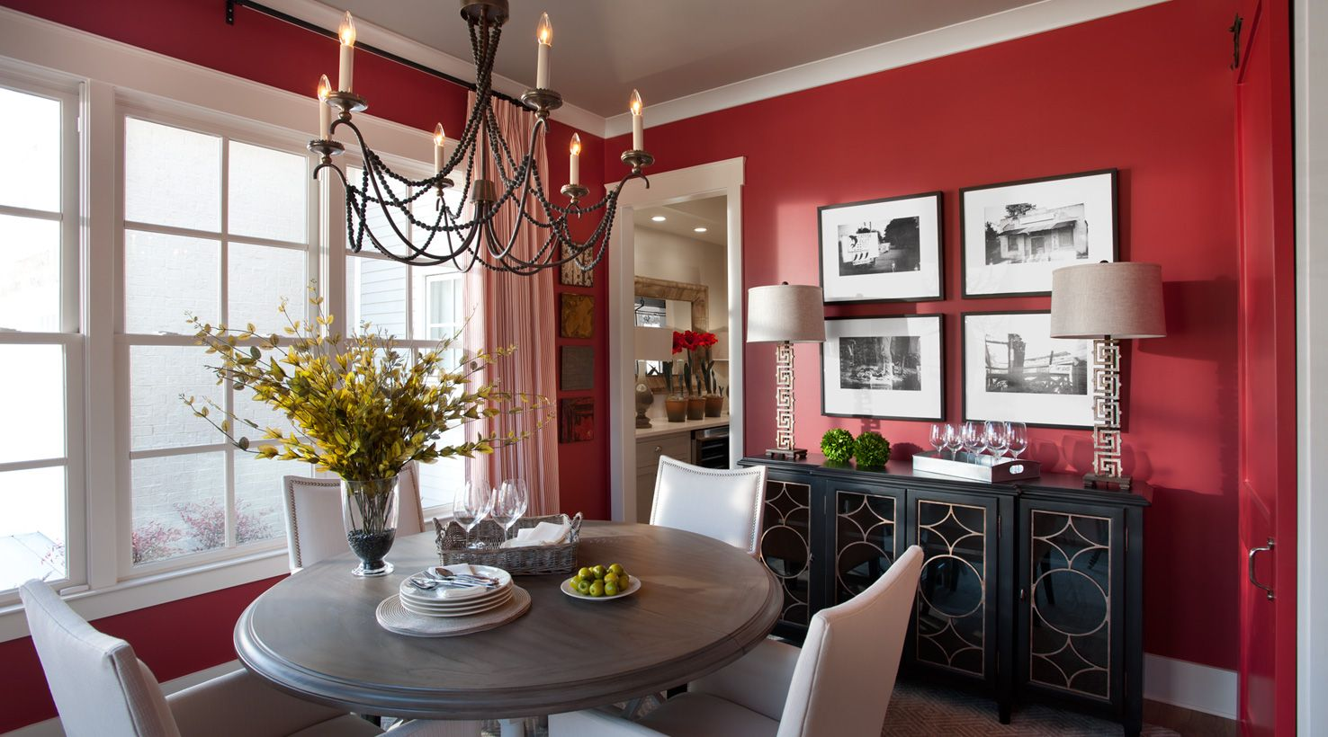 Best 25+ Red Dining Rooms Ideas On Pinterest | Long Walls, Kitchen  Furniture Inspiration And Rustic Dining Room Tables