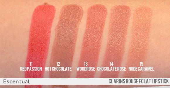 f4ea8520 Clarins Rouge Eclat Lipstick Swatches | G l i t z + G l a m o u r ...