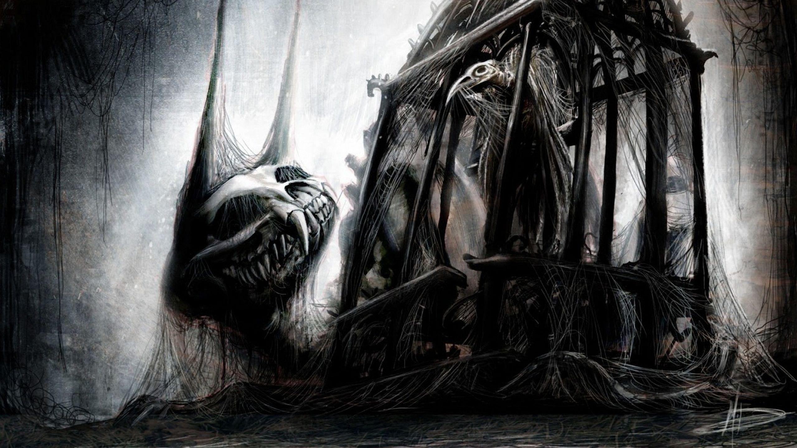 Creepy Wallpaper Dark Creepy Wallpaper Monster Concept Art Monster Art Gothic Art Dark gothic creepy wallpaper