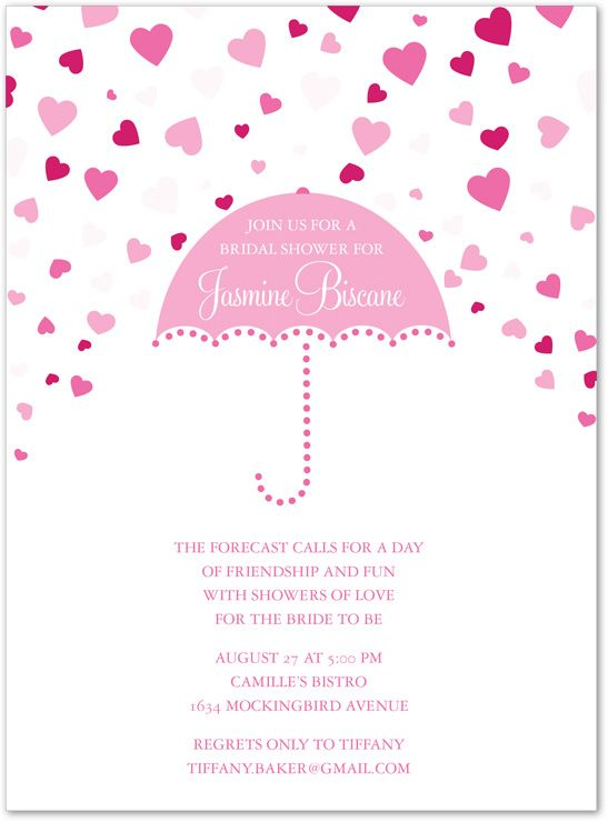 Pink Bridal Shower Invitations Forecasting Love Pink