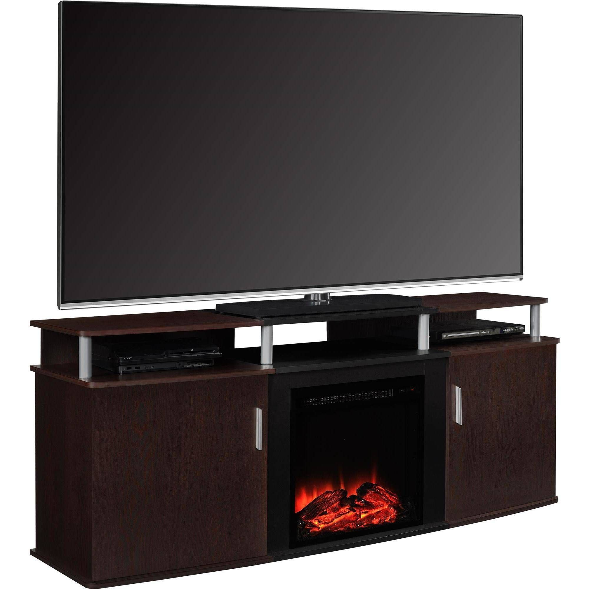 Altra Furniture Carson 70 Fireplace Tv Console 209 Hot Tv  # Foyer Electrique Meuble Tele