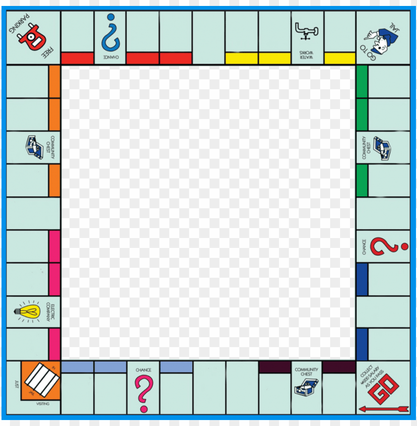 Free Png Monopoly Blank Frame Photoframe Game Gameboard Boardgam Blank Monopoly Board Png Image With Transparent Monopoly Board Board Game Template Monopoly