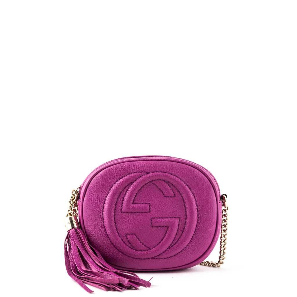 1e24a5896f05 Gucci Pink Mini Soho Chain Bag - LOVE that BAG - Preowned Authentic  Designer Handbags