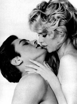 Alain Delon And Brigitte Bardot Photographed Ca 1961 With