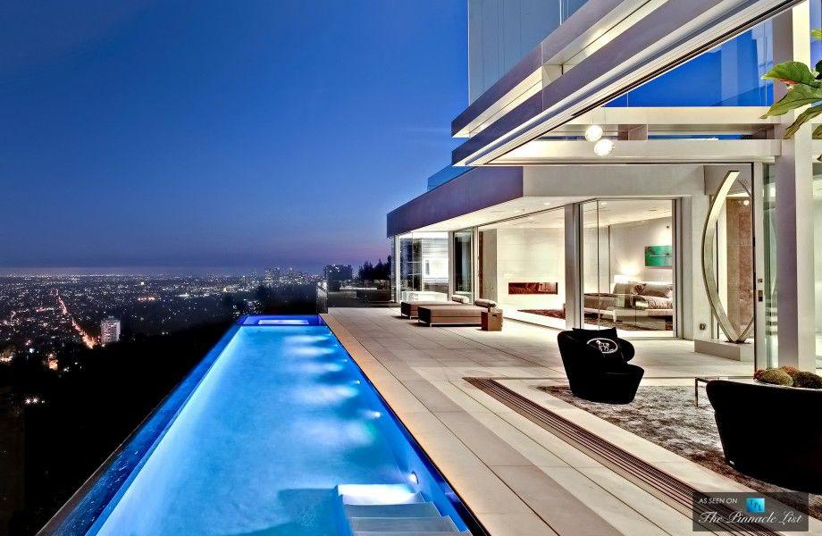 Infinity Pool Overlooking City Luxury Homes Fancy Houses