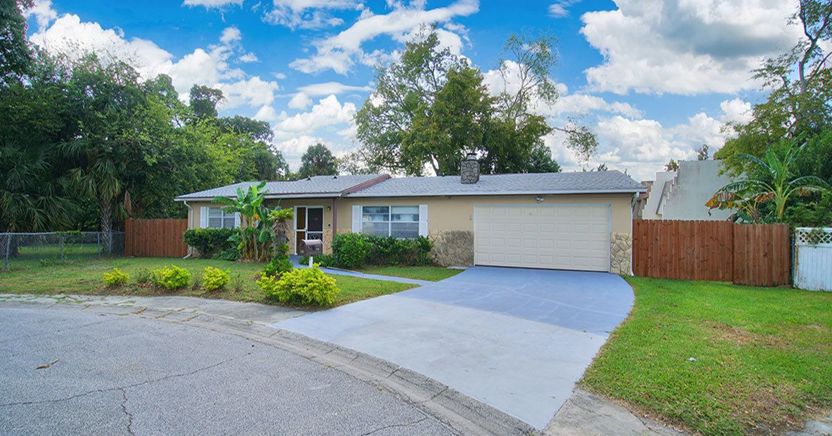 This Daytona Beach pool home with three bedrooms is now