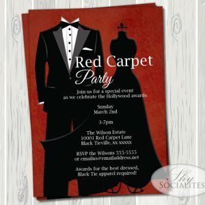 Red Carpet Party Invitations Wording httphurleventinfo Pinterest