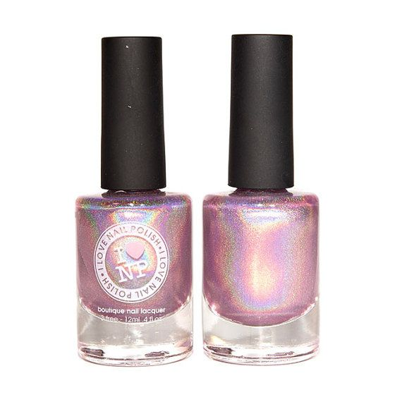 Pixie Dust Pink Ultra Holographic Nail Polish by ILoveNP on Etsy ...