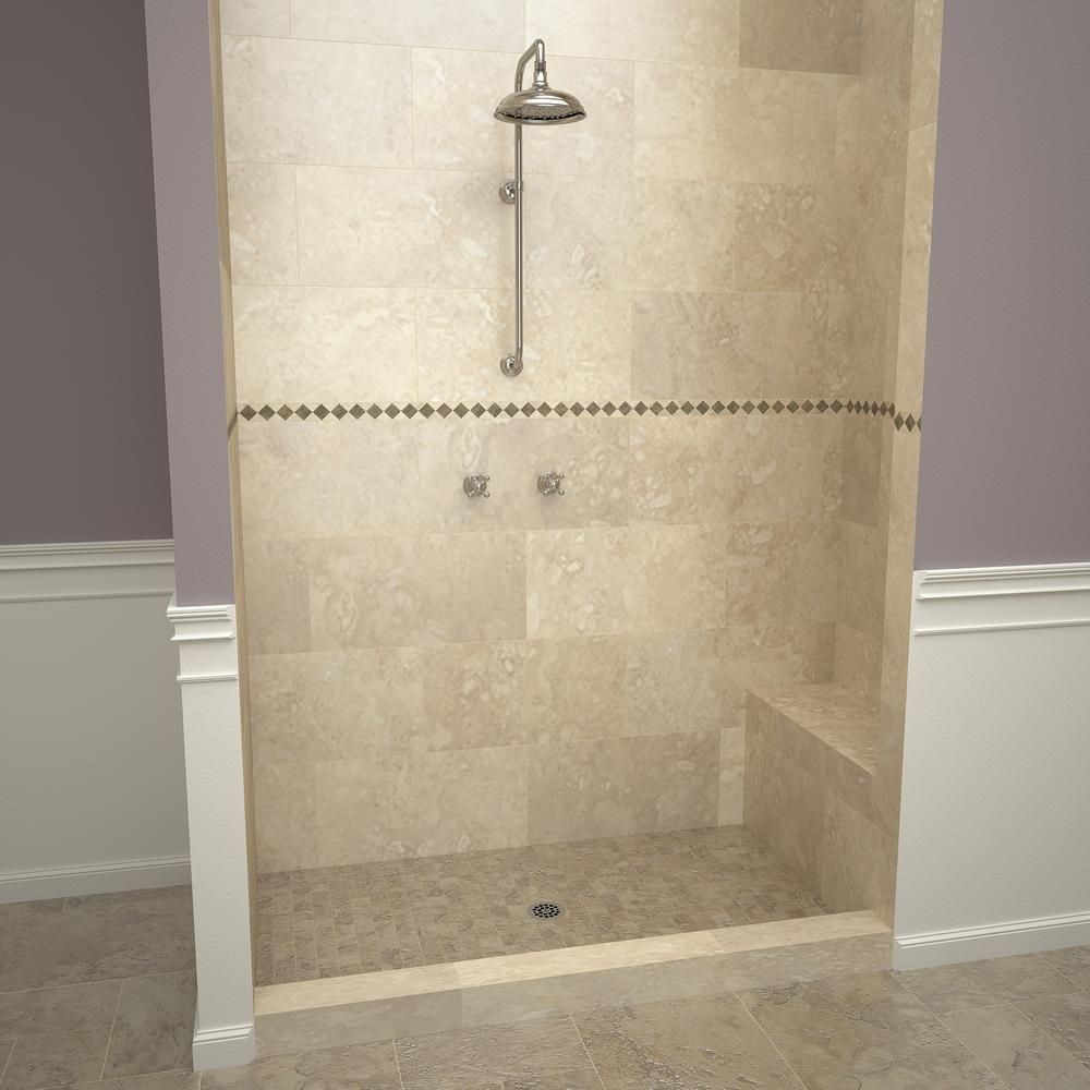 Tile Redi Base N Bench 48 In X 72 In Single Threshold Shower