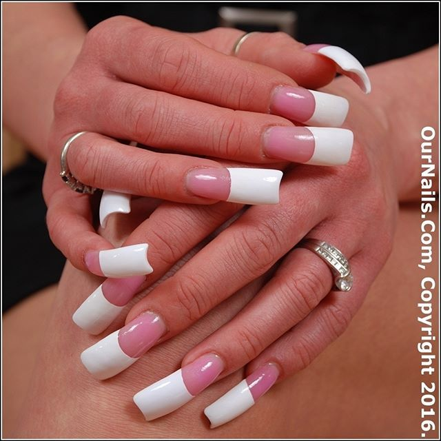 Long Acrylic Nails I Would Do Coffin Shape With This Length Though French Manicure