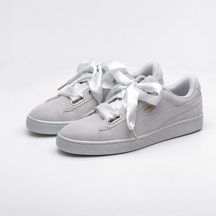 best sneakers 32582 9caa2 PUMA Suede Heart Satin - Gray/Violet | MyStyle | Puma suede ...