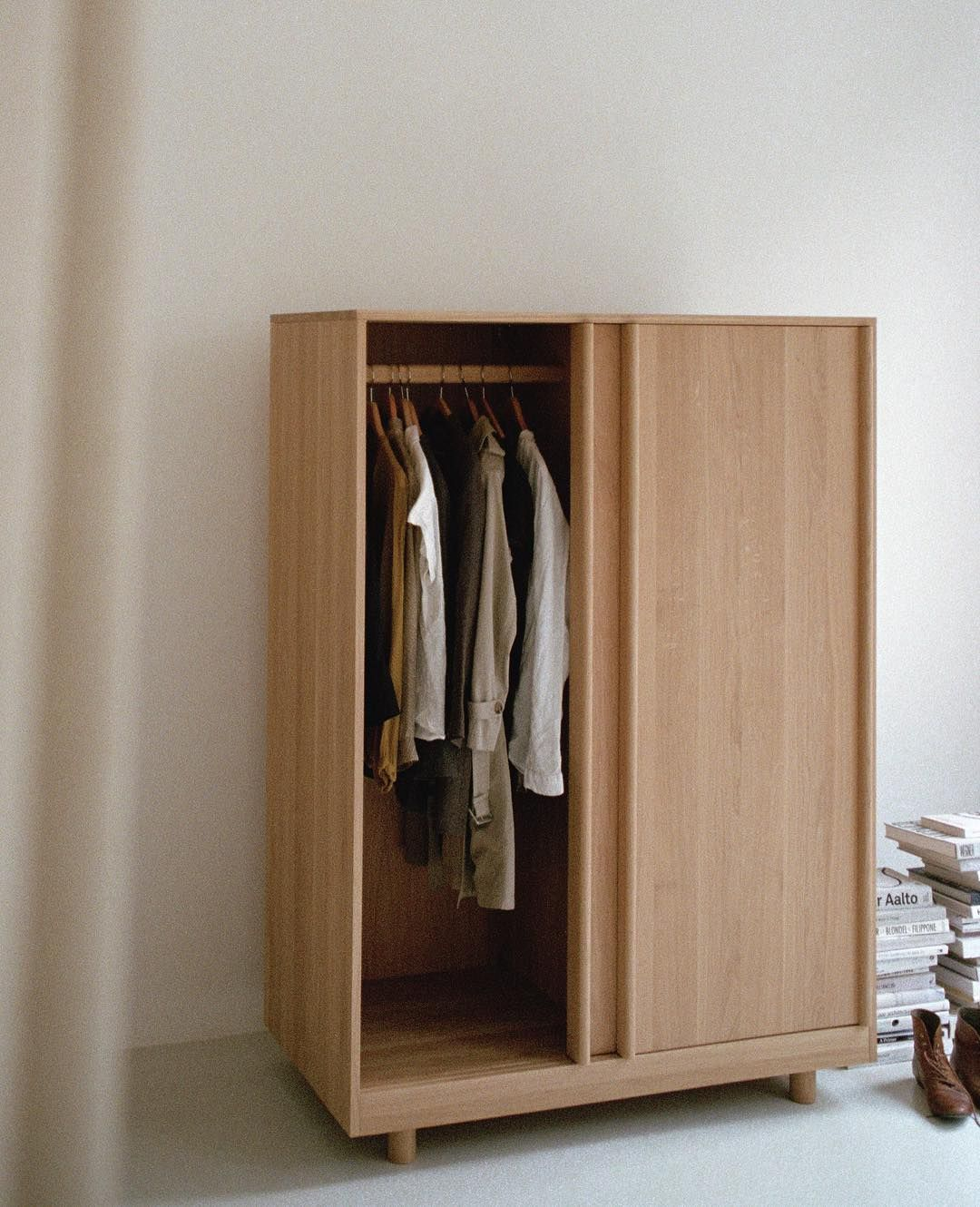 Schlafzimmermöbel 50er Jahre Wardrobe With Sliding Doors Solid Oak Made In Germany Available