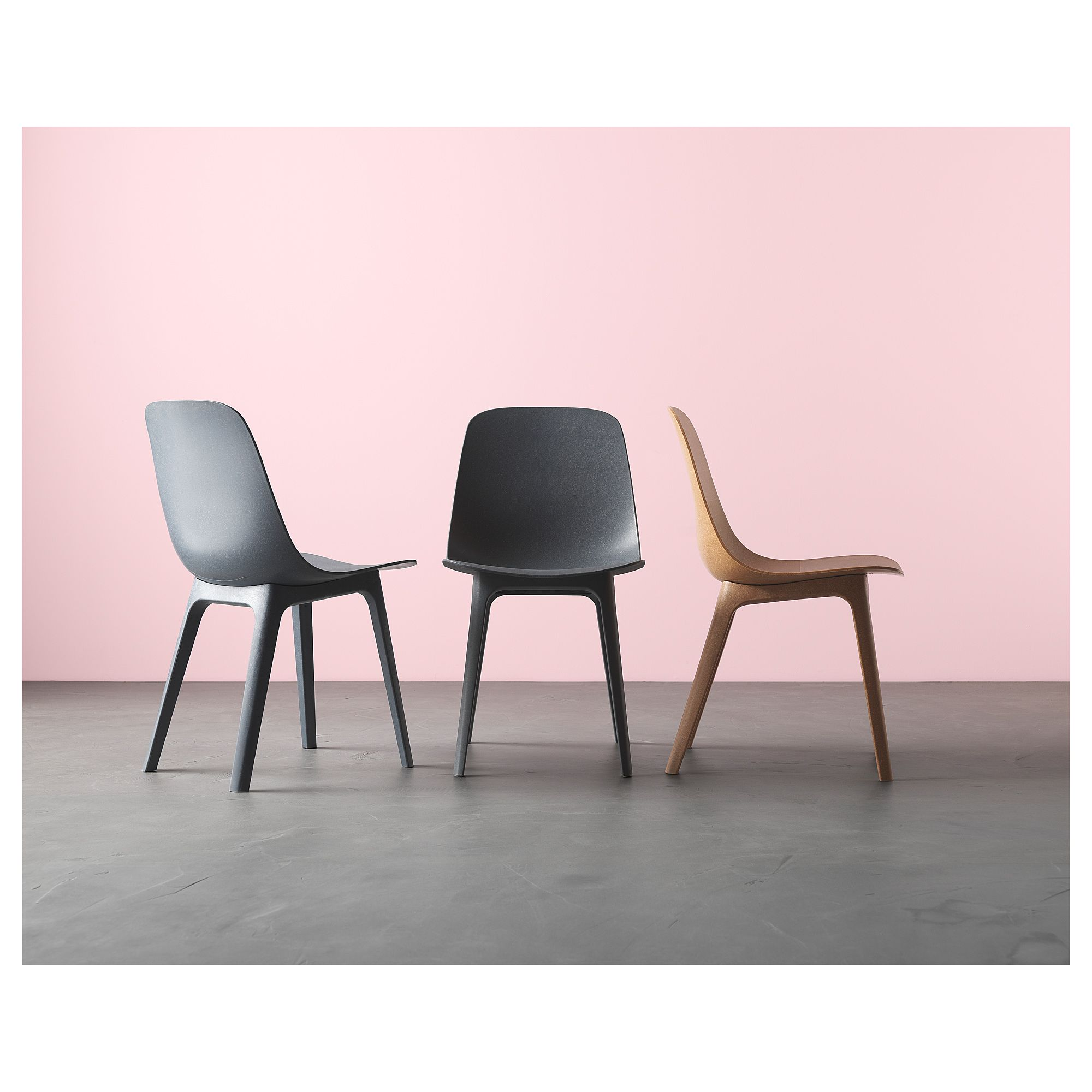 IKEA ODGER Chair Blue fortable to sit on thanks to the bowl shaped seat and rounded shape of the backrest
