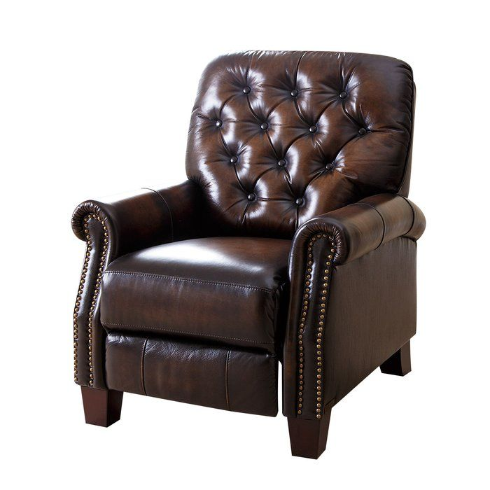 Superb Barnesville Leather Manual Glider Recliner Recliners Bralicious Painted Fabric Chair Ideas Braliciousco