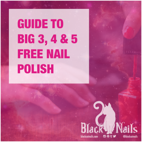 WHAT IS BIG 3-FREE, 4-FREE AND 5-FREE NAIL POLISH CHEMICALS?