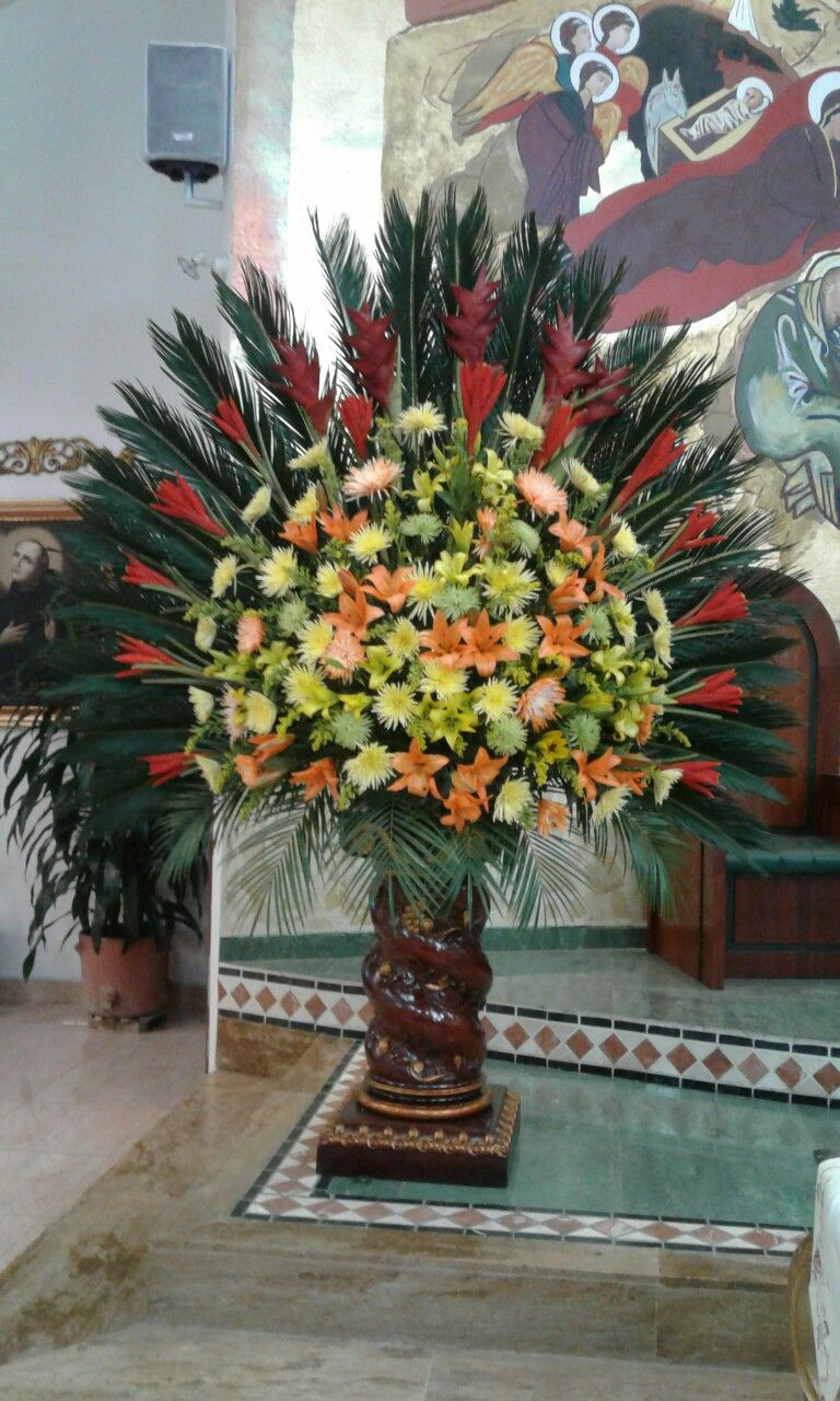 Arreglo Altar Mayor Flower Arrangements Large Flower