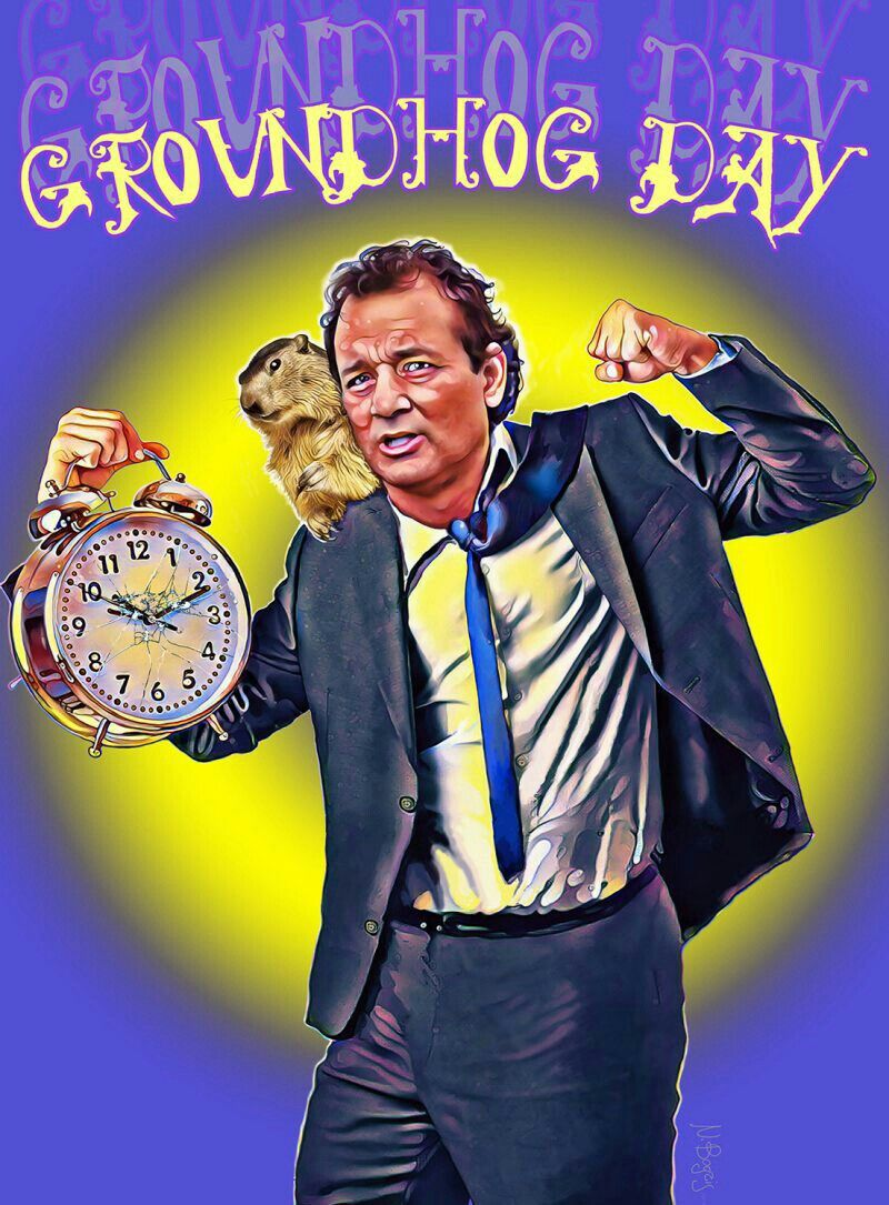 Groundhog Day fun cover art repin in 2020 Groundhog day