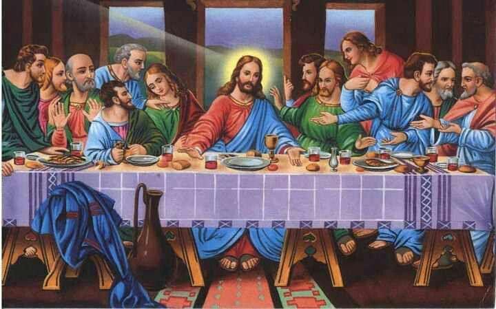 Imagem De Pintura A Ultima Ceia Por Fran Em Deus Jesus Rosto