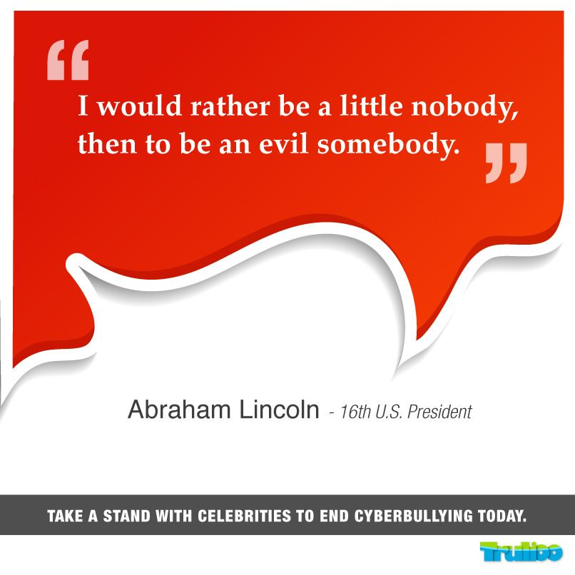 #Lincoln Take a stand with celebrities to end #Cyberbullying today!