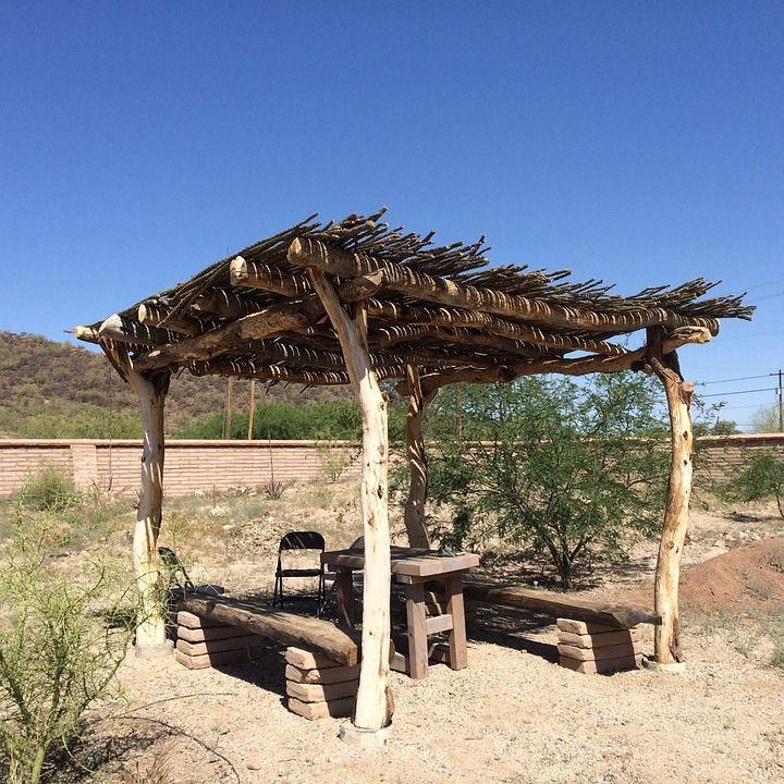 Free Image on Pixabay - Ramada, Shade, Arid, Desert