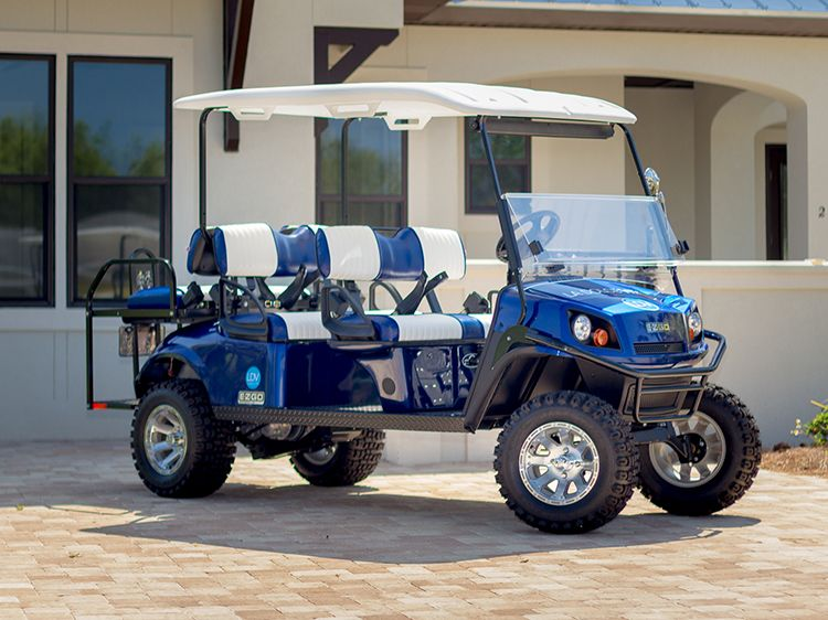 Brand New 2014 Ez Go Gas Powered Street Legal Golf Carts Are Now Available For Daily And Weekly Rental At Our Seascape Located Golf Carts Golf Cart Rental Golf