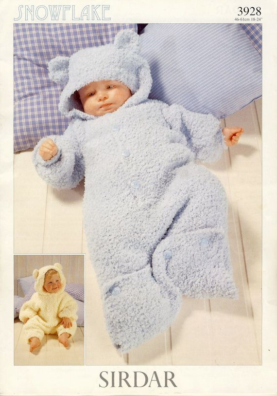 Sirdar 3928 Baby Knitting Pattern All In One And Sleeping Bag