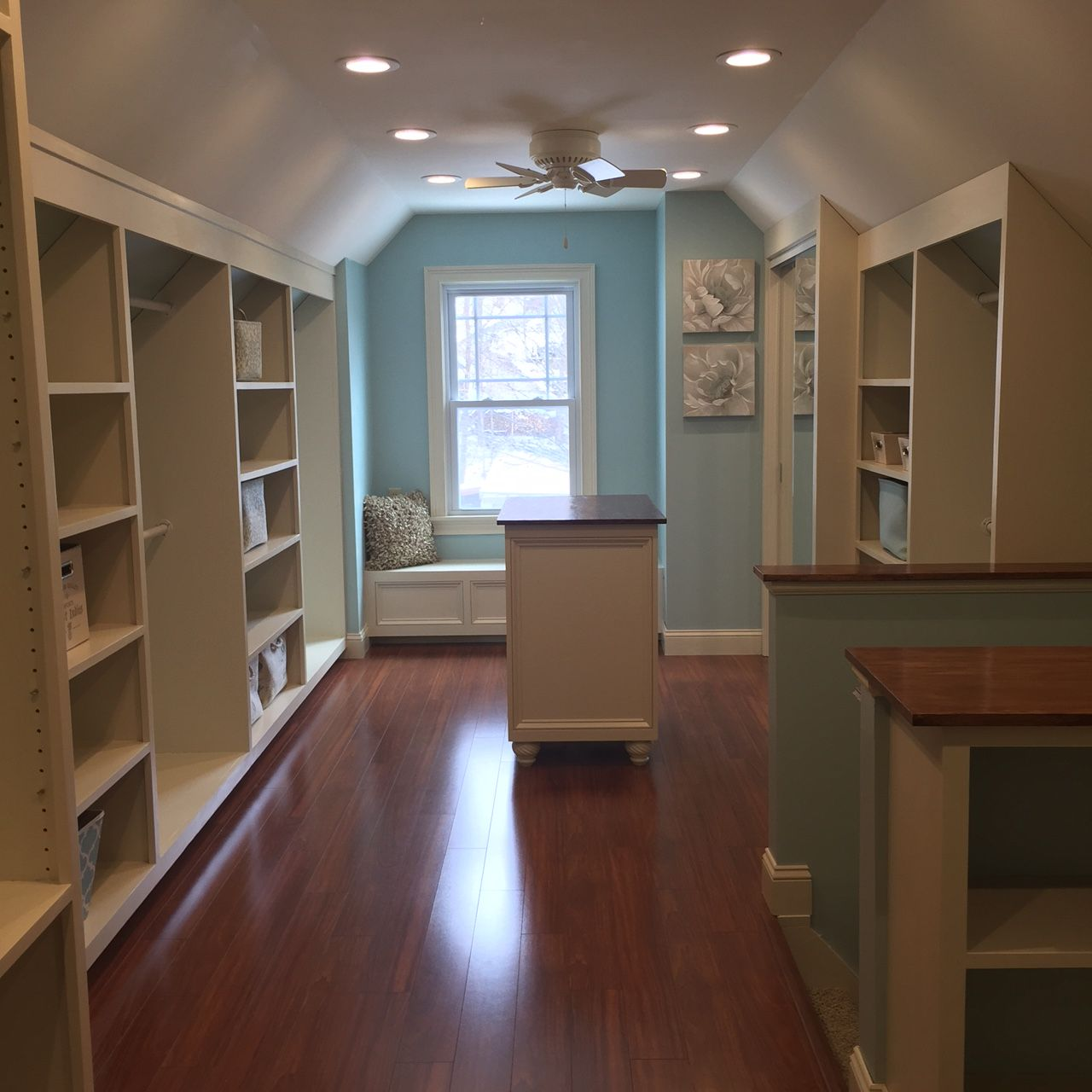 Part Of Attic Converted To Walk In Closet For The Home