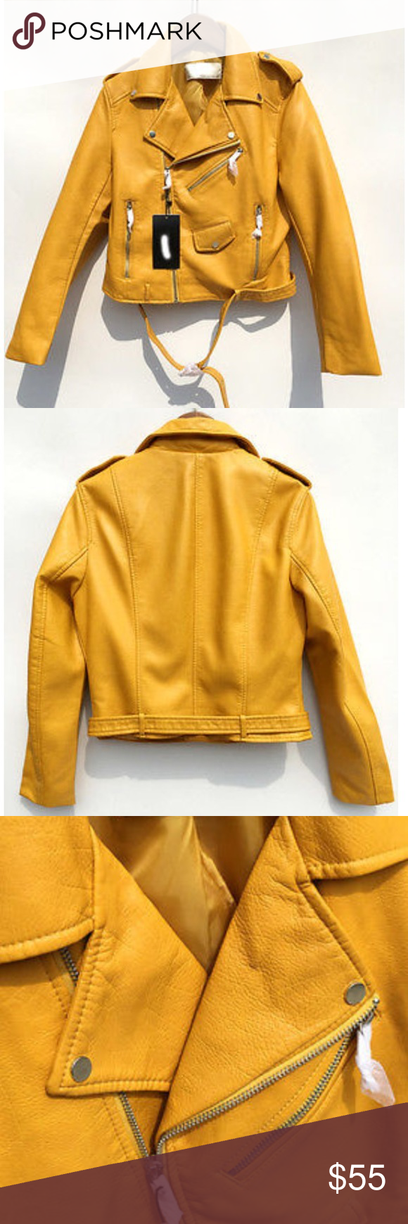 Zara faux mustard yellow jacket (With images) Jackets