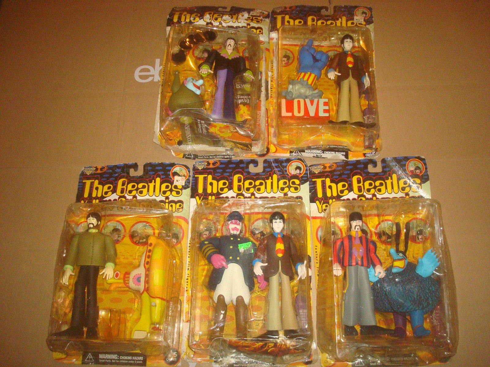 The Beatles Yellow Submarine Action Figure LOT McFarlane Toys Set ...