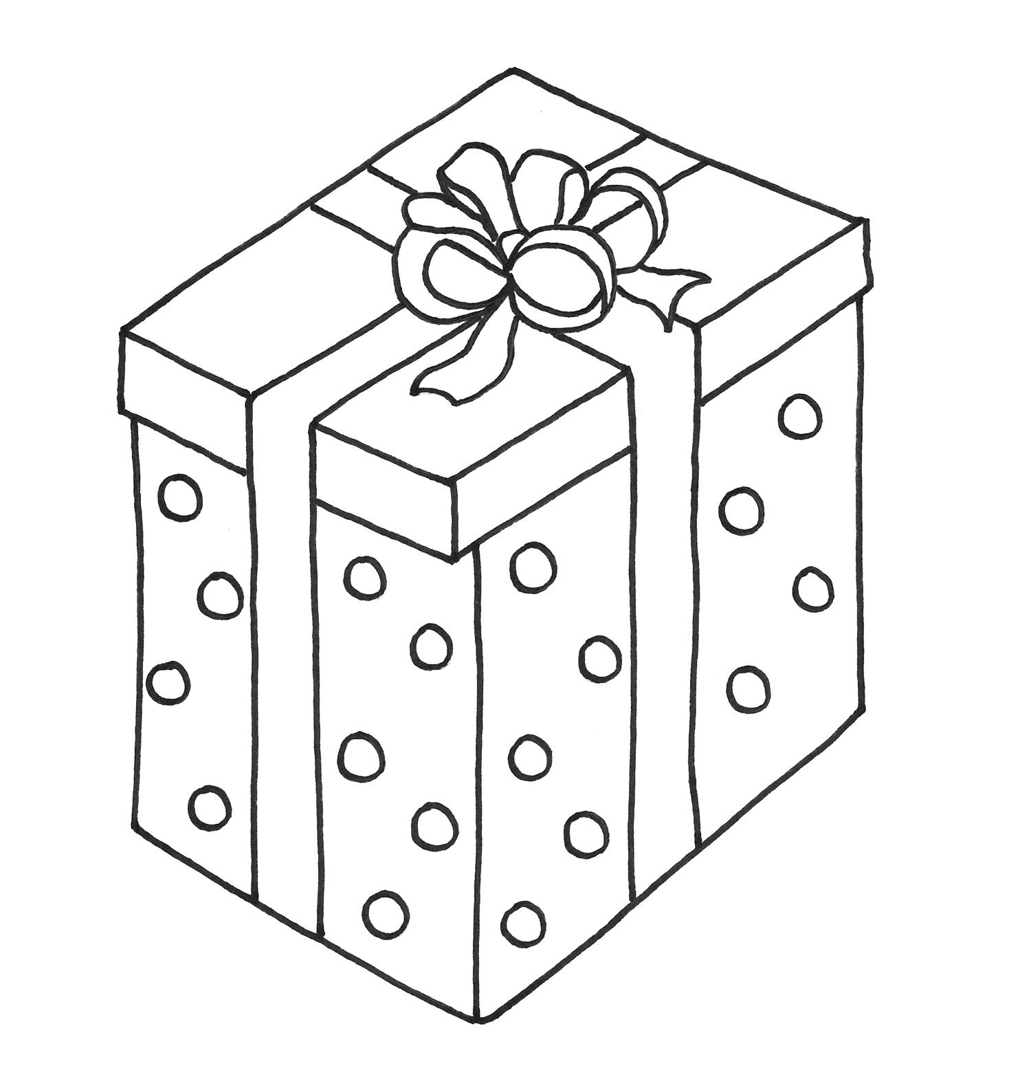 Big Christmas Presents Coloring Page Preschool Christmas