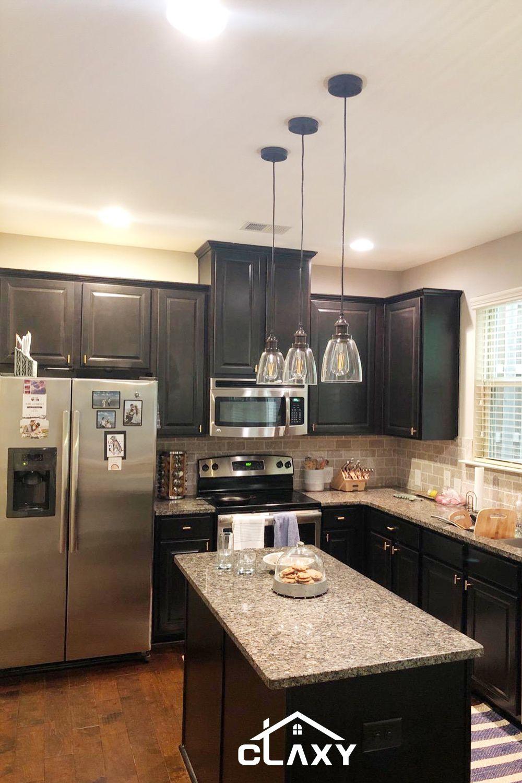Mini Glass Pendant Lights For Small Kitchen Island Small Kitchen Island Rubbed Bronze Kitchen Bronze Kitchen