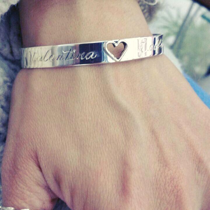 8112552129e7 esclava pulsera grabadas para novios pareja bebe amor | Nuestras ...
