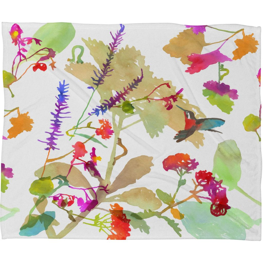 Betsy Olmsted End Of The Season Fleece Throw Blanket | DENY Designs Home Accessories