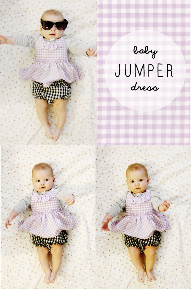 gingham style // free baby jumper dress pattern (with a ruffle ...