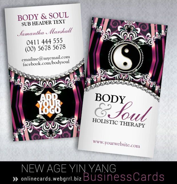 New age purple silver lacy frills yin yang business cards yin yang purple silver new age yin yang business card template with berry red and pink colours colourmoves
