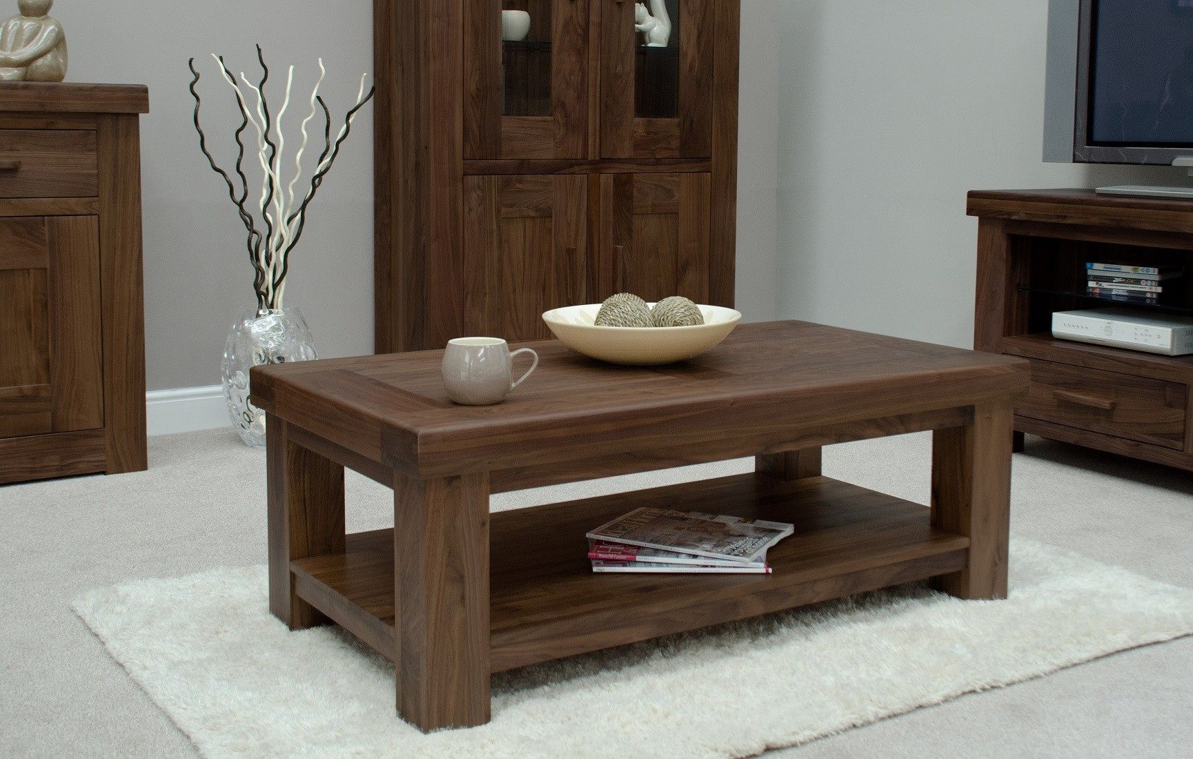 20 Solid Walnut Coffee Table Real Wood Home Office Furniture Check More At Http