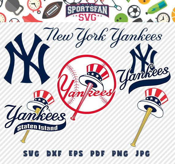 Nyyankees Newyorkyankees Newyork Yankees Logo Svg Pack Baseballteam Baseballleague Baseball Cutfiles New York Yankees Logo Yankees New York Yankees