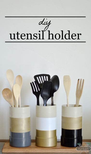 DIY Utensil Holder With PVC And Scrap Of Wood (this Could Work For Office,  Desk, Vanity, Bathroom ... Storage Too!)