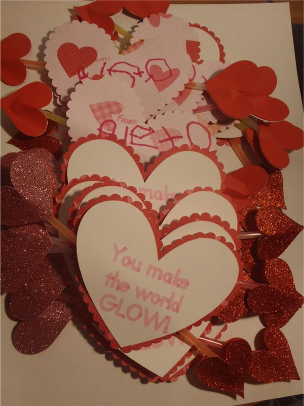 Valentine S Day Cards For Preschool With Glow Bracelet Vday