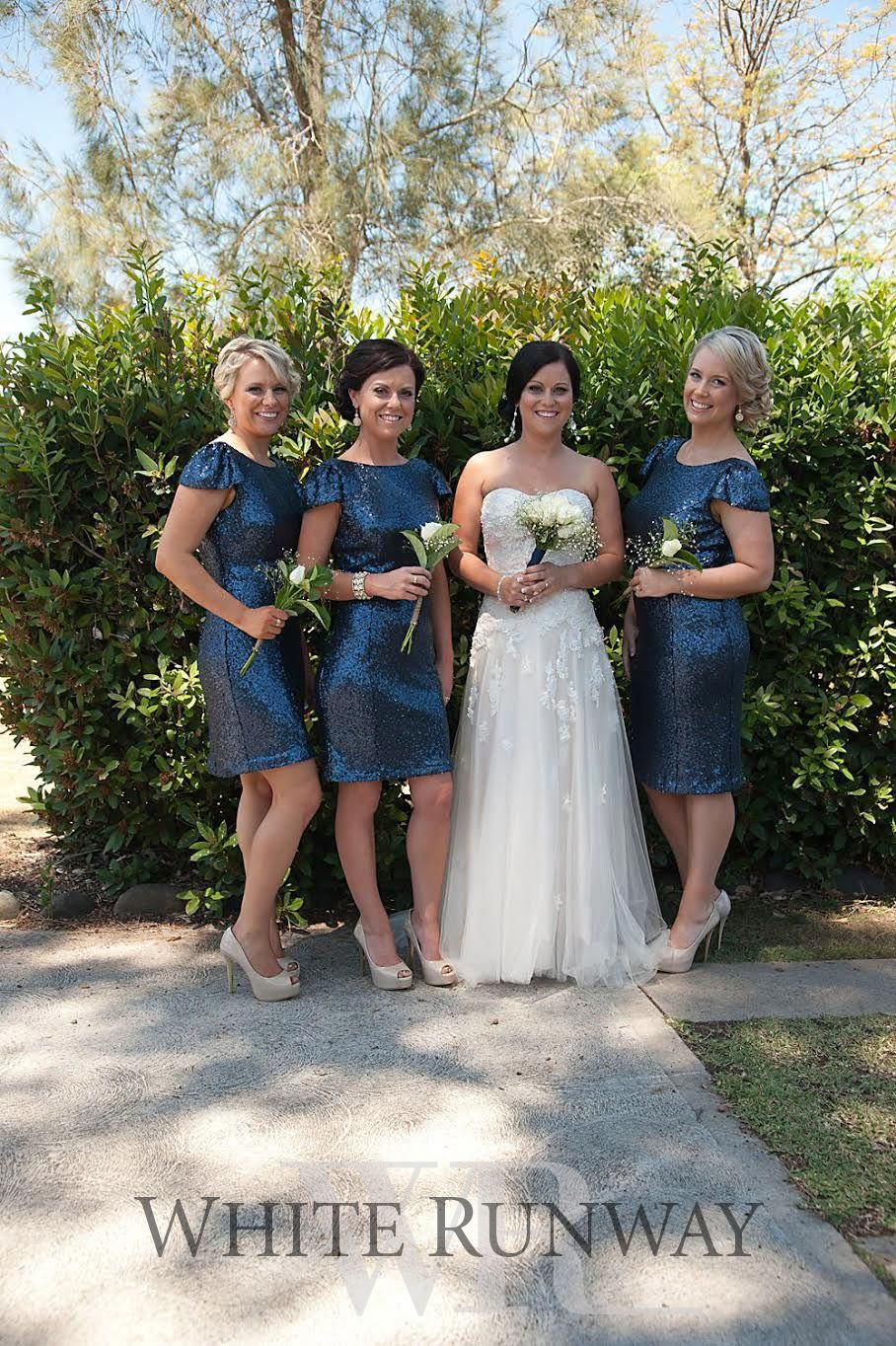 Gorgeous bridesmaid in our sequin cap sleeve cocktail dress by gorgeous bridesmaid in our sequin cap sleeve cocktail dress by jadore evening in custom colour navy ombrellifo Gallery