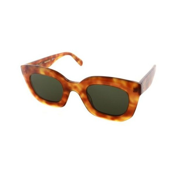 0e03af118e294 Celine Marta Small CL 41091 TEN Light Havana Cat-Eye Plastic... ( 242) ❤  liked on Polyvore featuring accessories