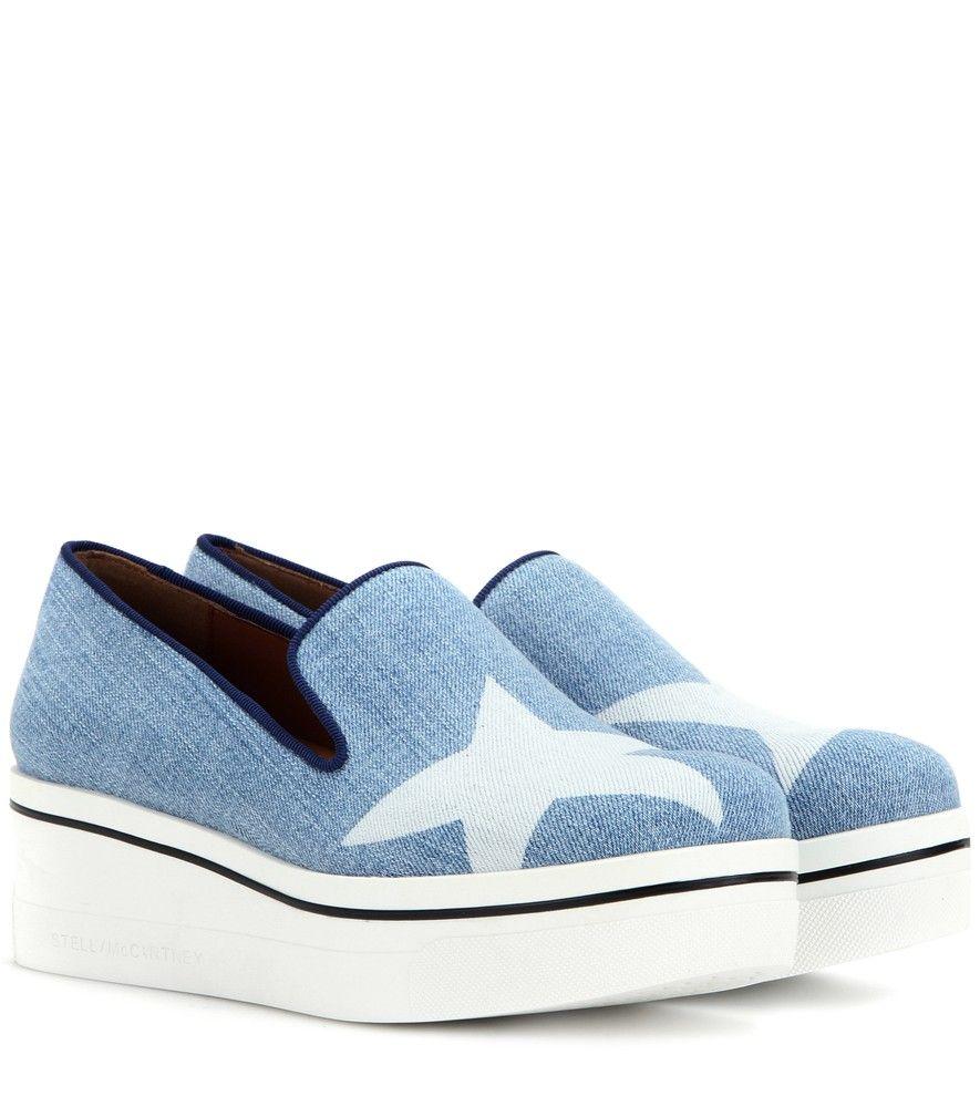 Étoiles Binx Denim Chaussures Métalliques Mccartney Stella ZxiZT6IMBF