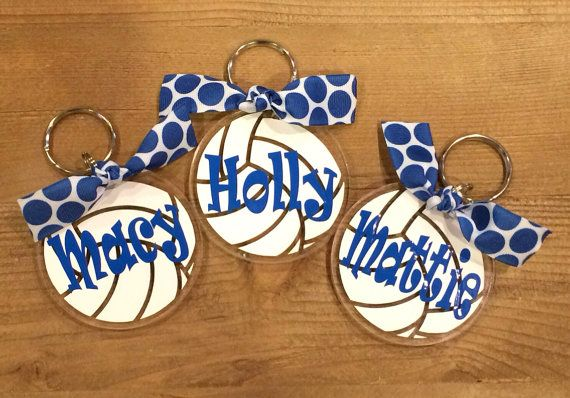 volleyball craft ideas monogrammed keychain by marylucasgifts on etsy 3195