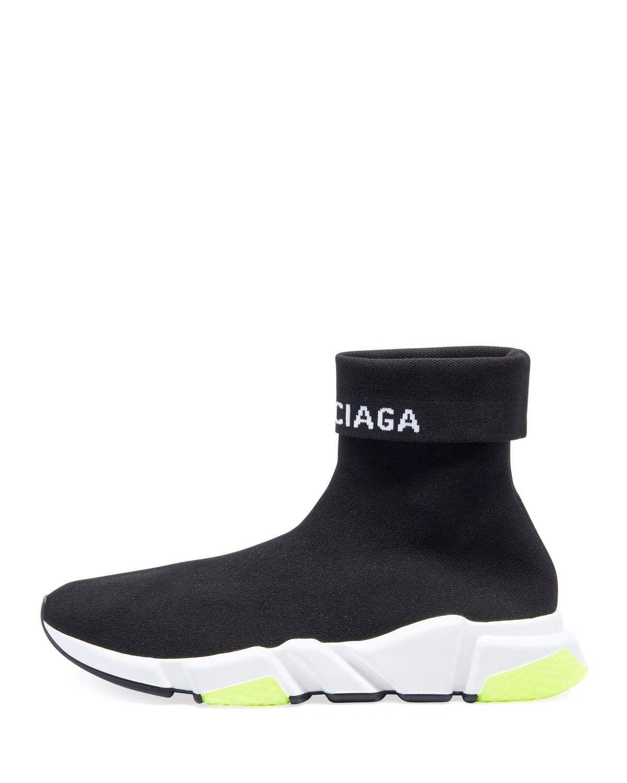 3fd176211a34 Balenciaga Men s Speed High-Top Stretch-Knit Sock Sneakers ...
